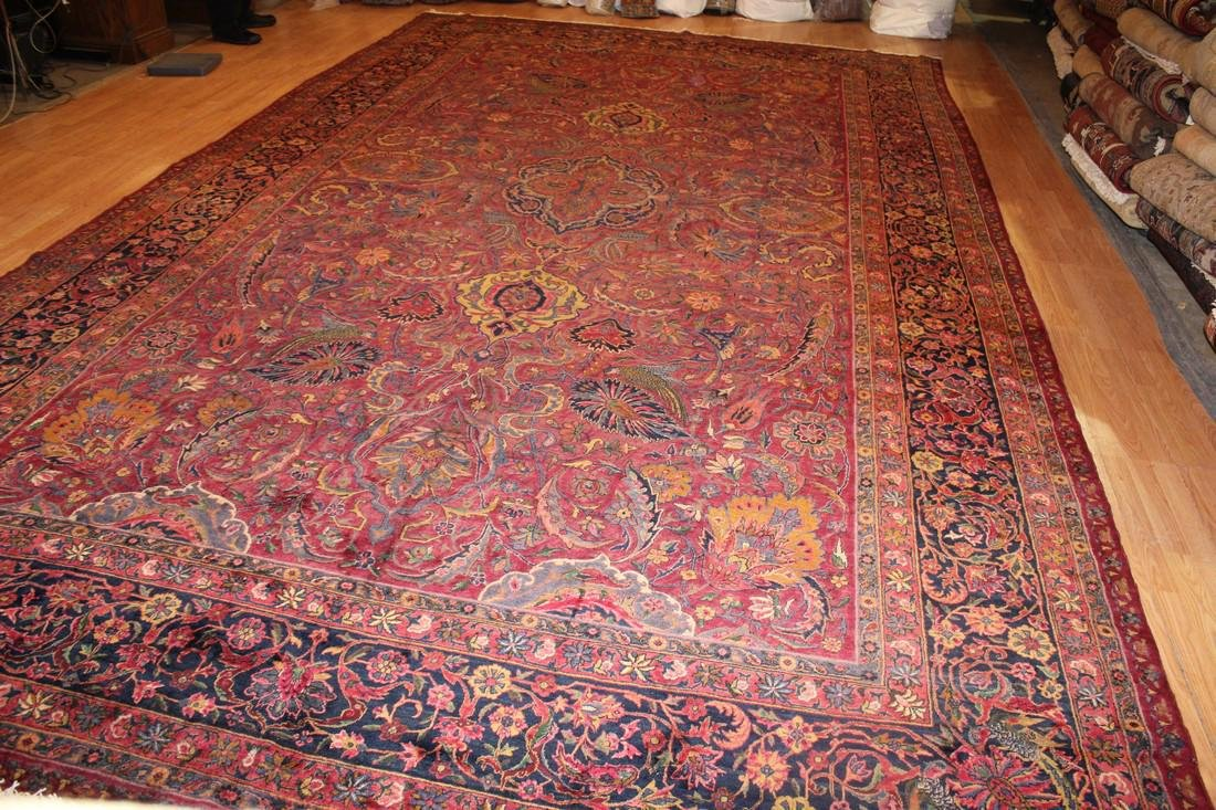 Antique Indian Sarouk Rug 10.8x18.3