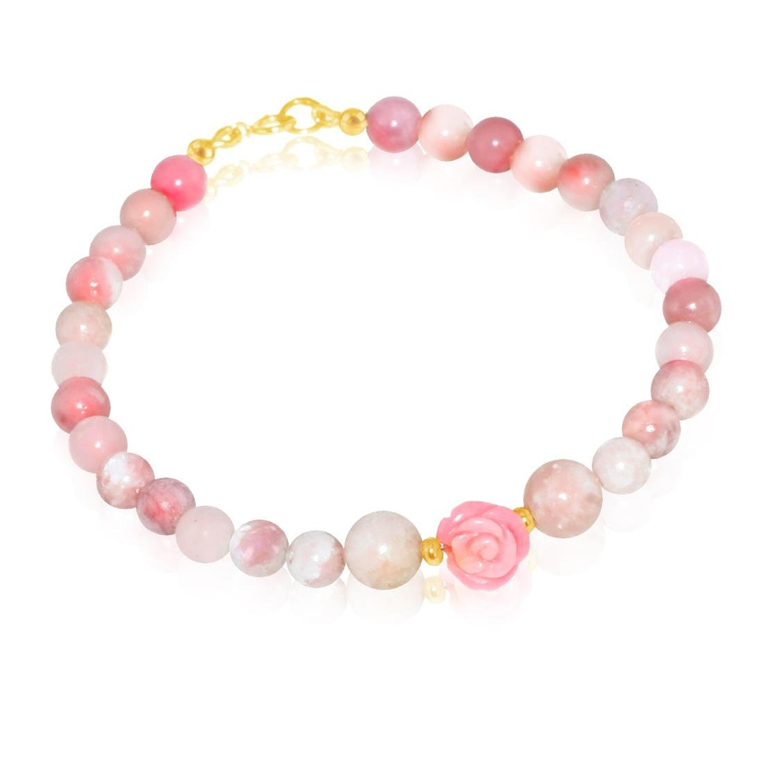 Pink Opal and 'Rose' Coral Classic Bracelet - 2