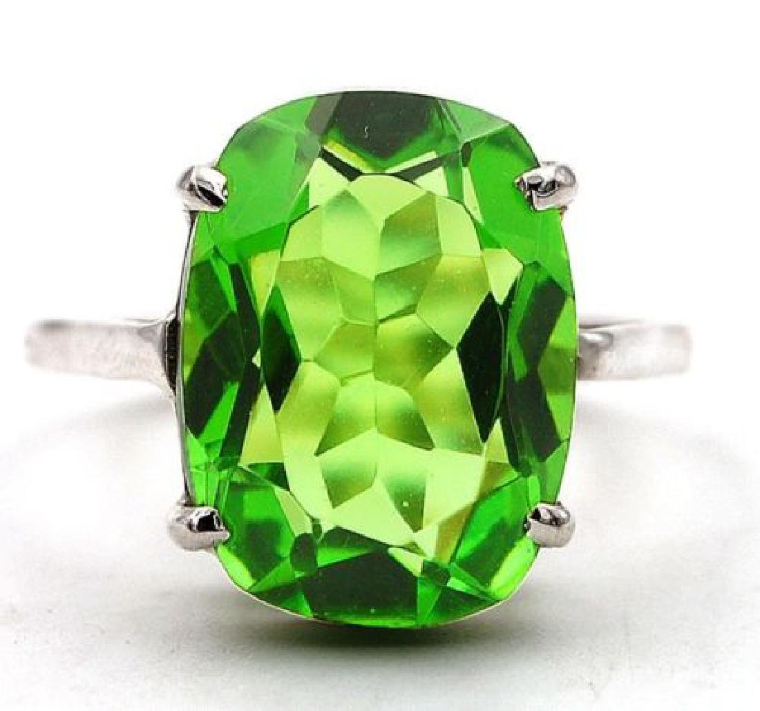 10ct Peridot 925 Solid Sterling Silver Ring