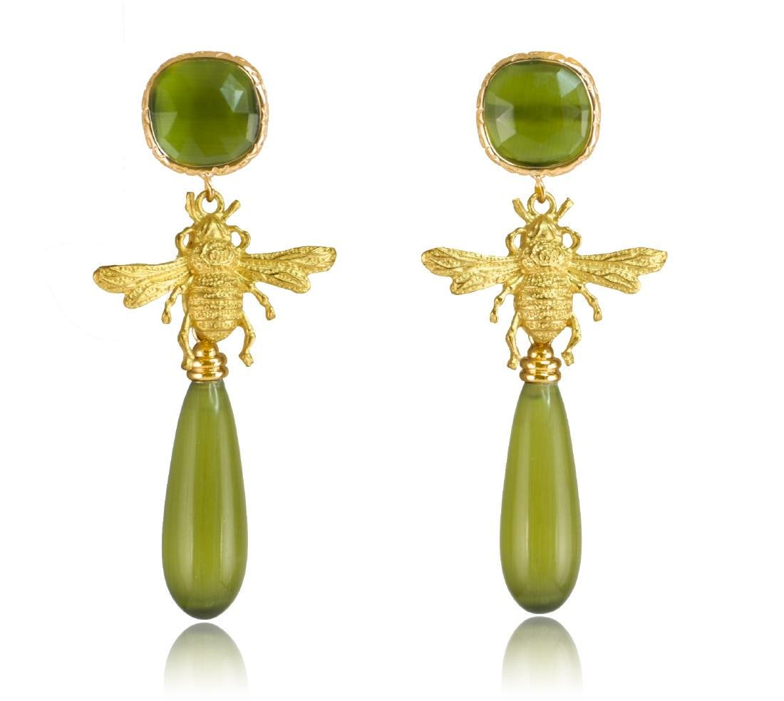 Green Fly Eye-catching Earrings