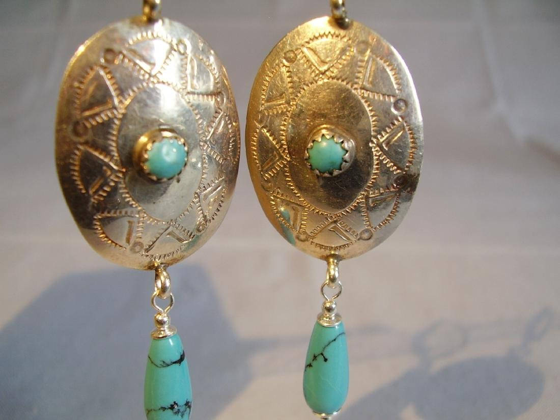 Earrings with turquoise - 2