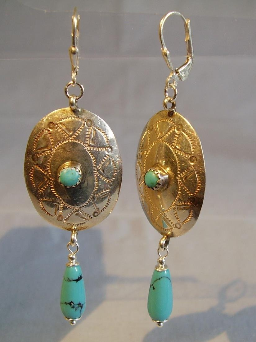 Earrings with turquoise - 3