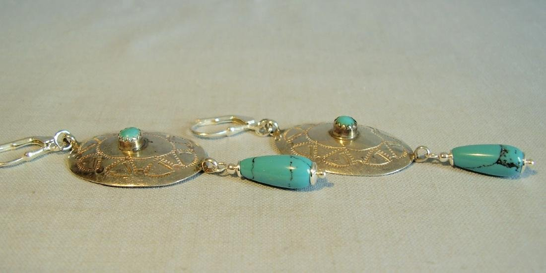 Earrings with turquoise - 4