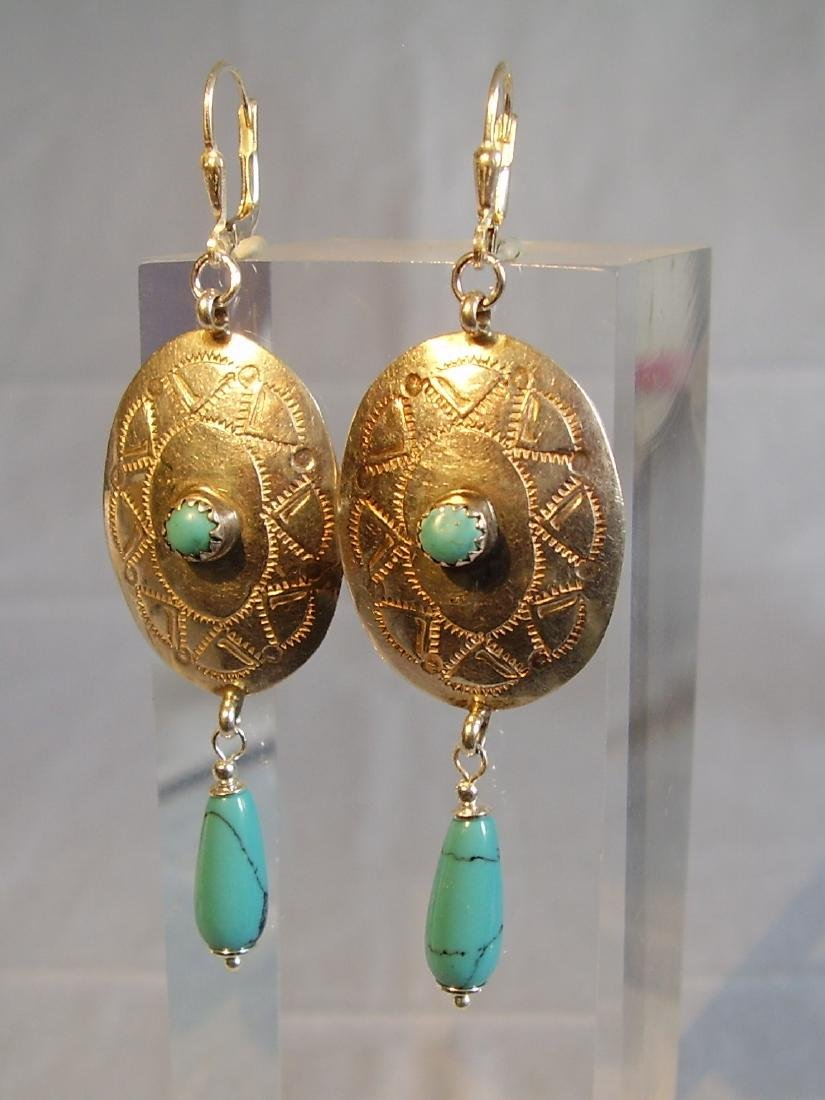Earrings with turquoise - 5