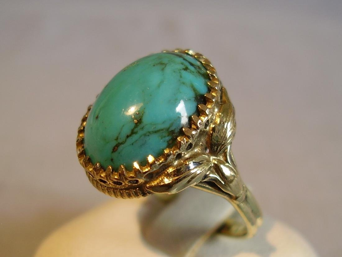 Ring with natural turquoise - 2