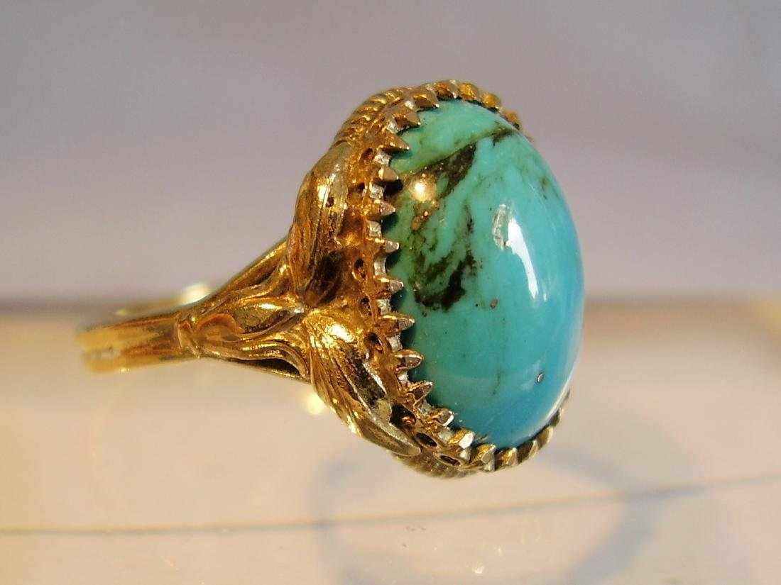 Ring with natural turquoise - 4