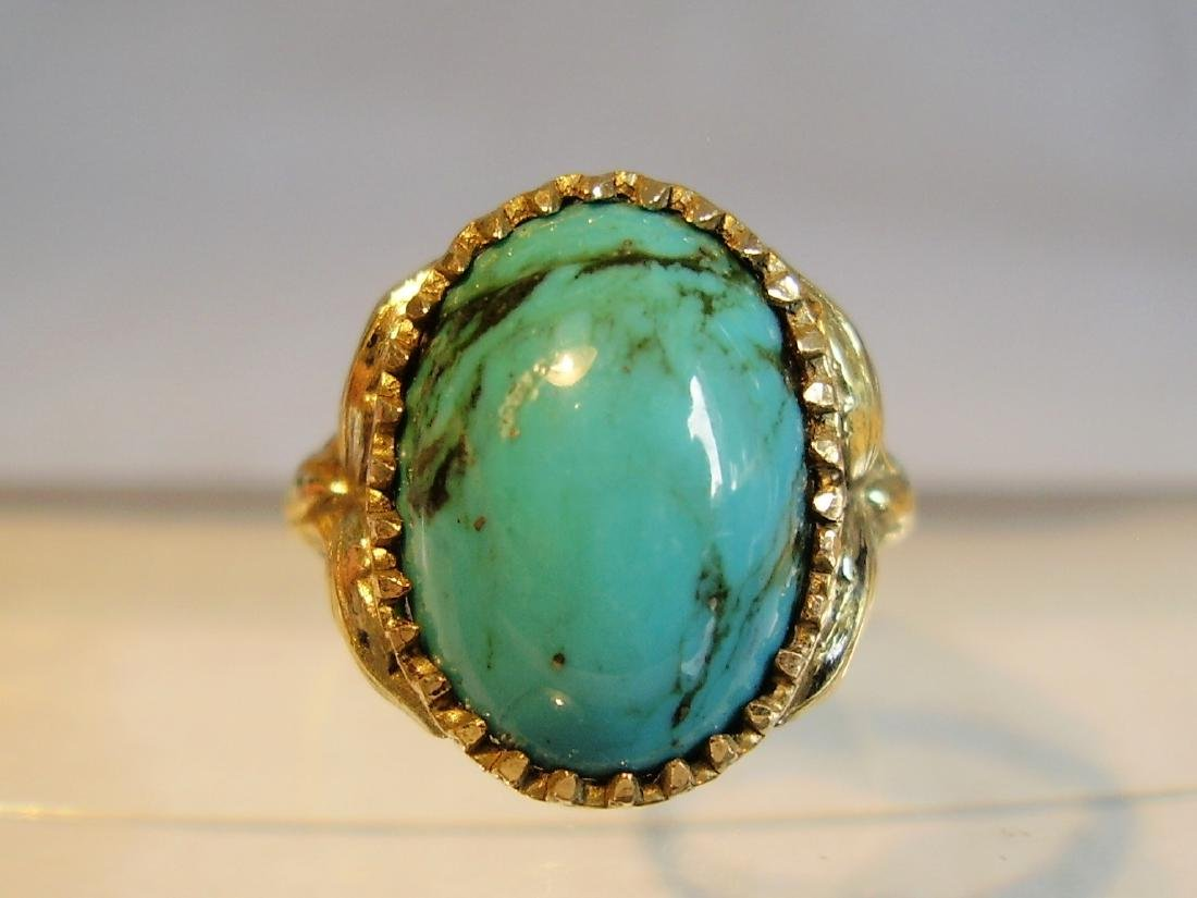 Ring with natural turquoise - 5