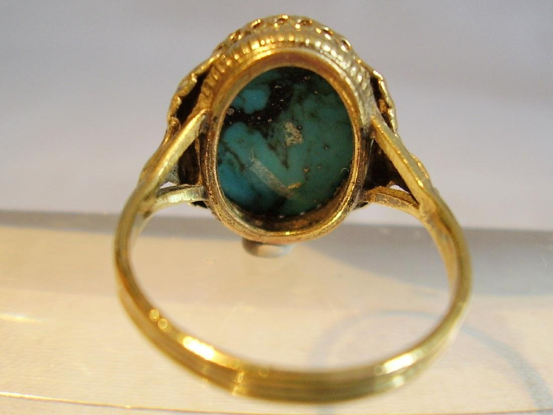 Ring with natural turquoise - 6