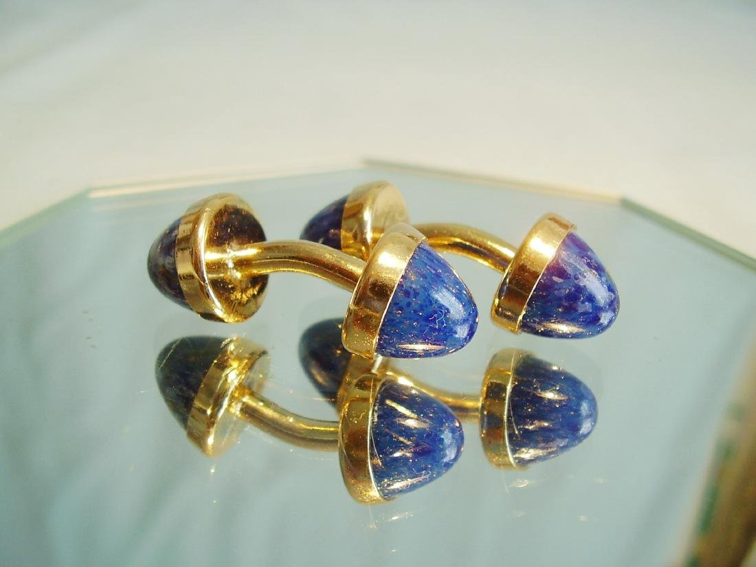 Cufflinks with blue sunstone