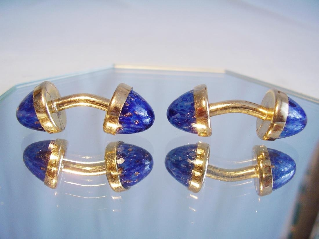 Cufflinks with blue sunstone - 2