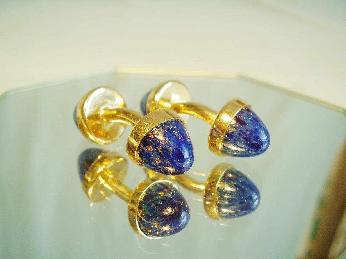 Cufflinks with blue sunstone - 3