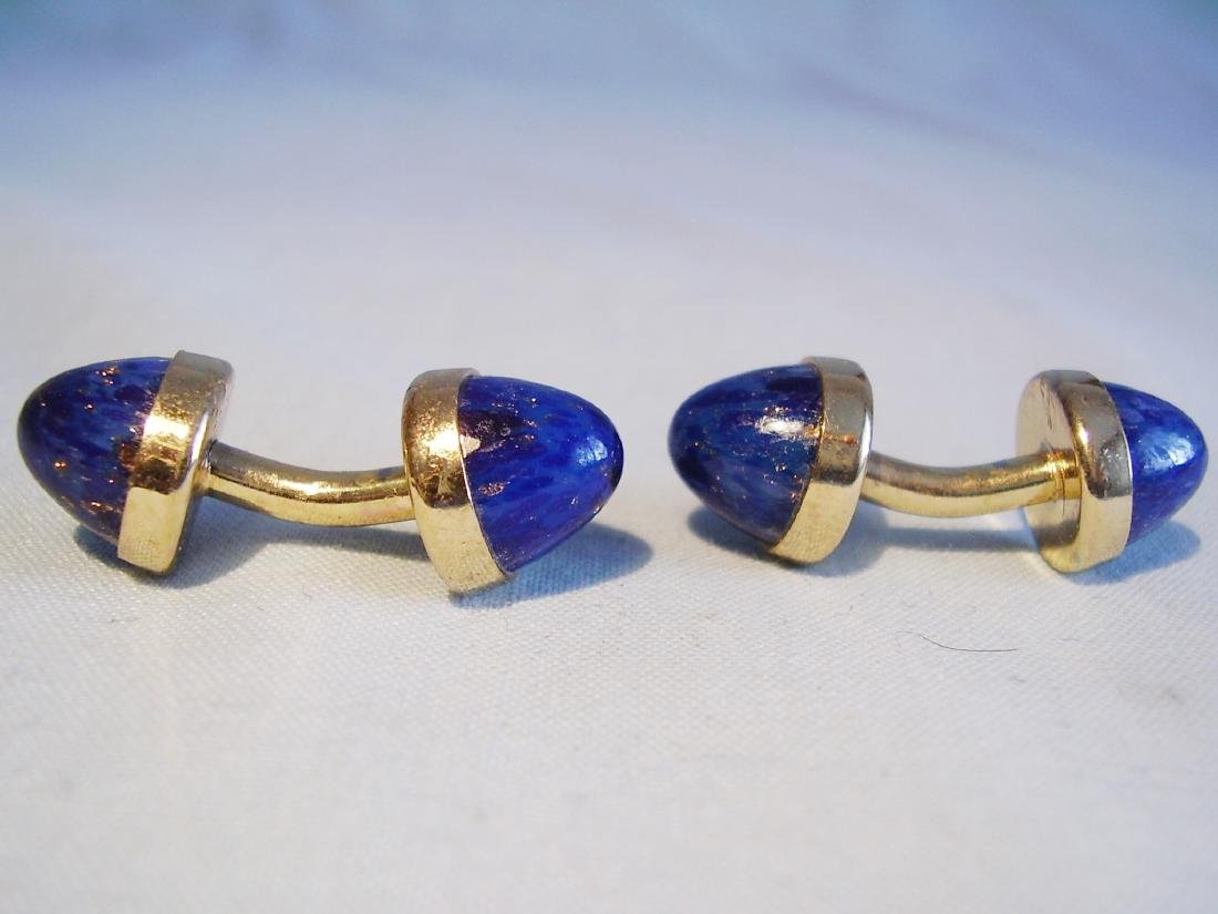 Cufflinks with blue sunstone - 4