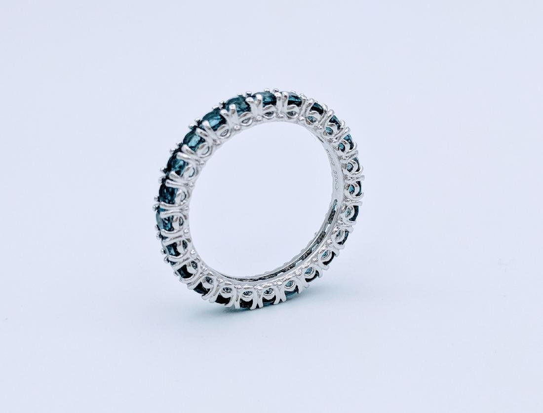 Sterling Silver Eternity Ring with Blue Topaz, 2.75ct - 3
