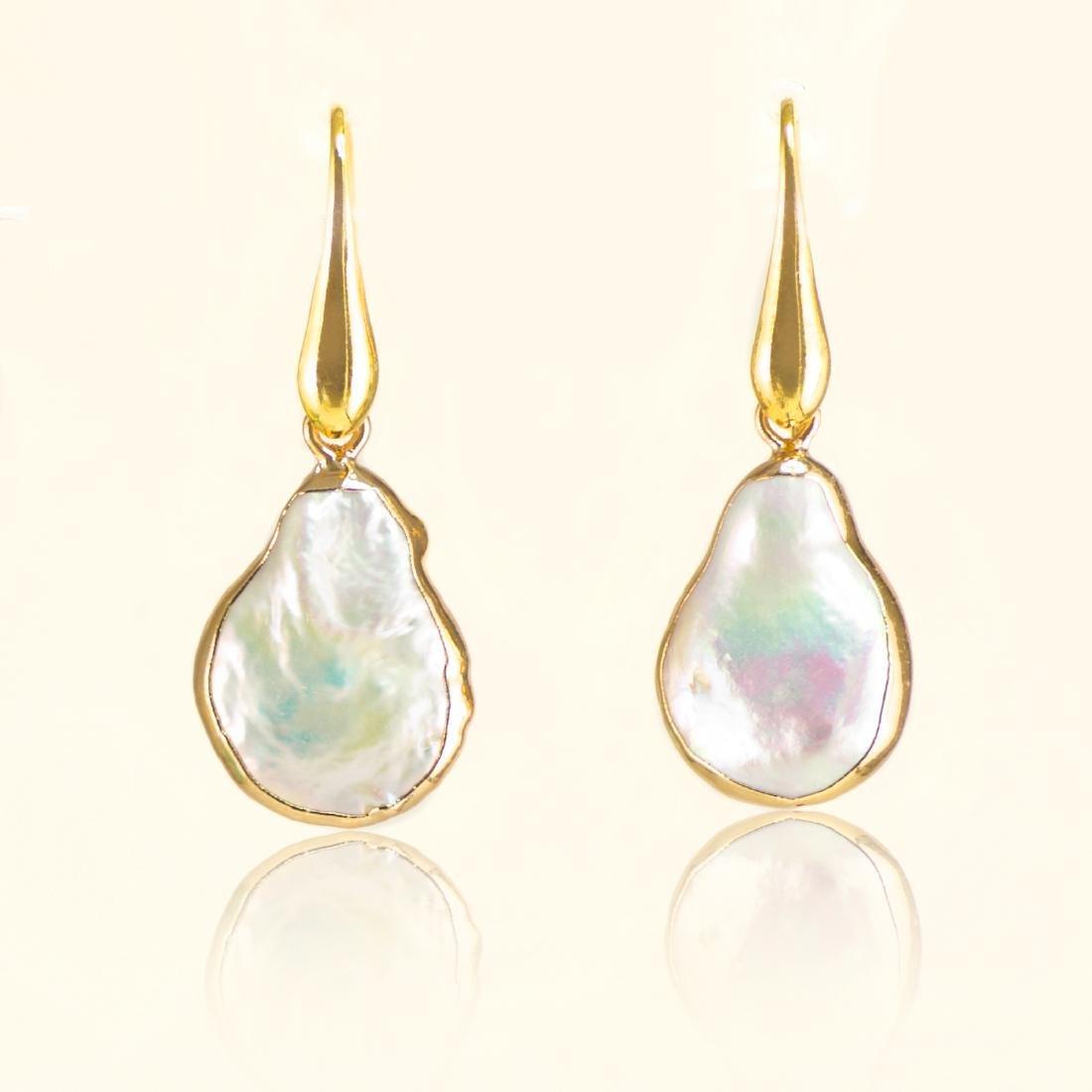 Biwa Keshi Pearl Earrings - 2