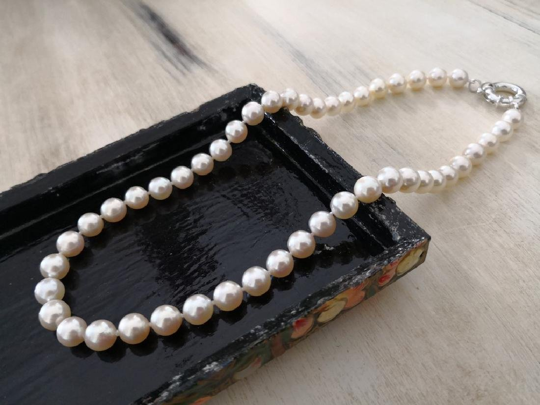Akoya cultured pearls necklace size 7-7.5 mm round