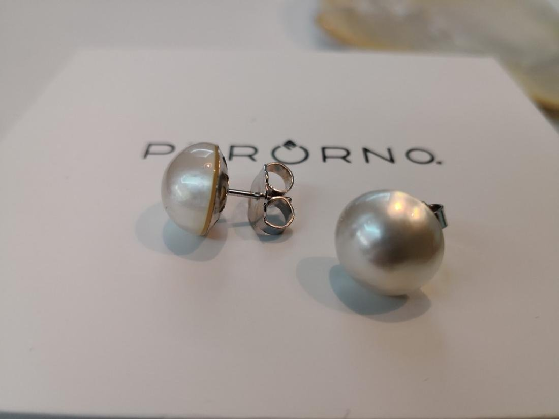 Earrings 18K gold and Australian Mabe Pearls 13 mm