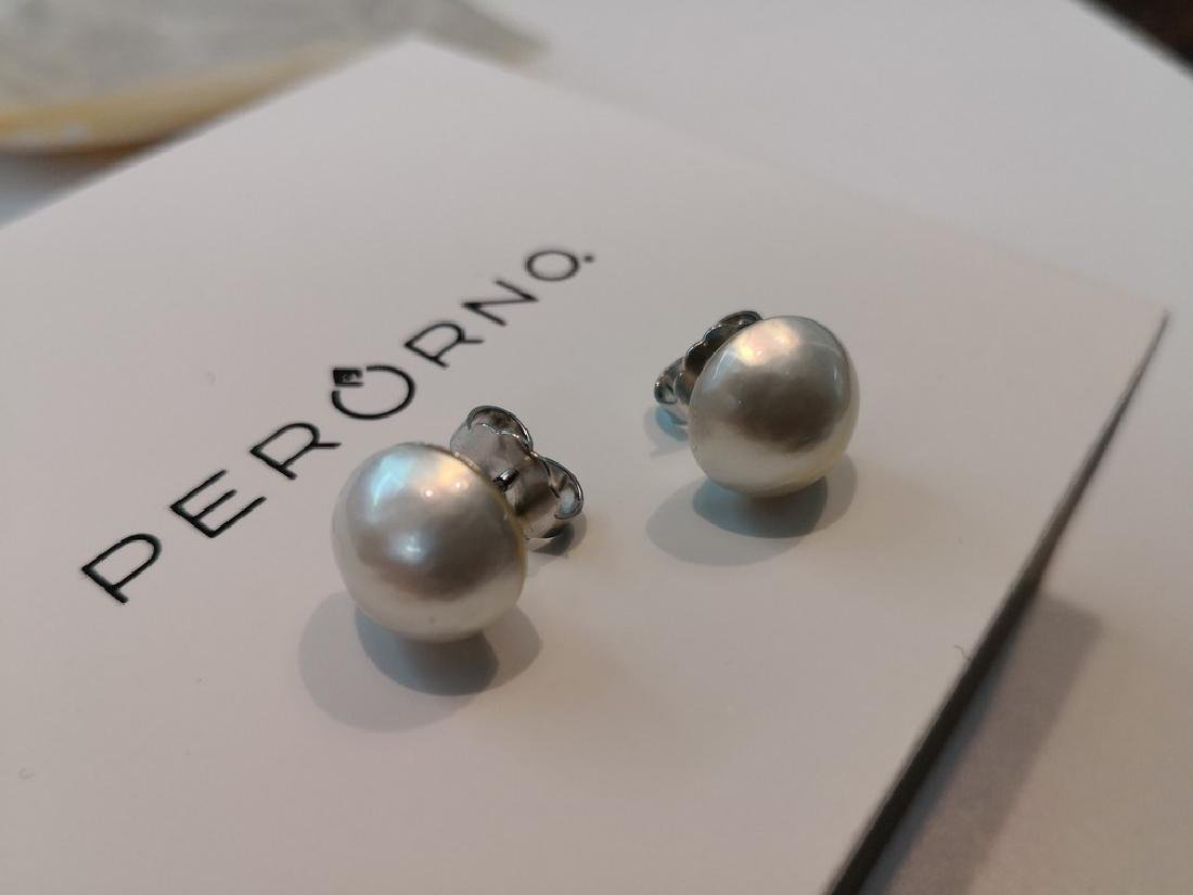 Earrings 18K gold and Australian Mabe Pearls 13 mm - 4