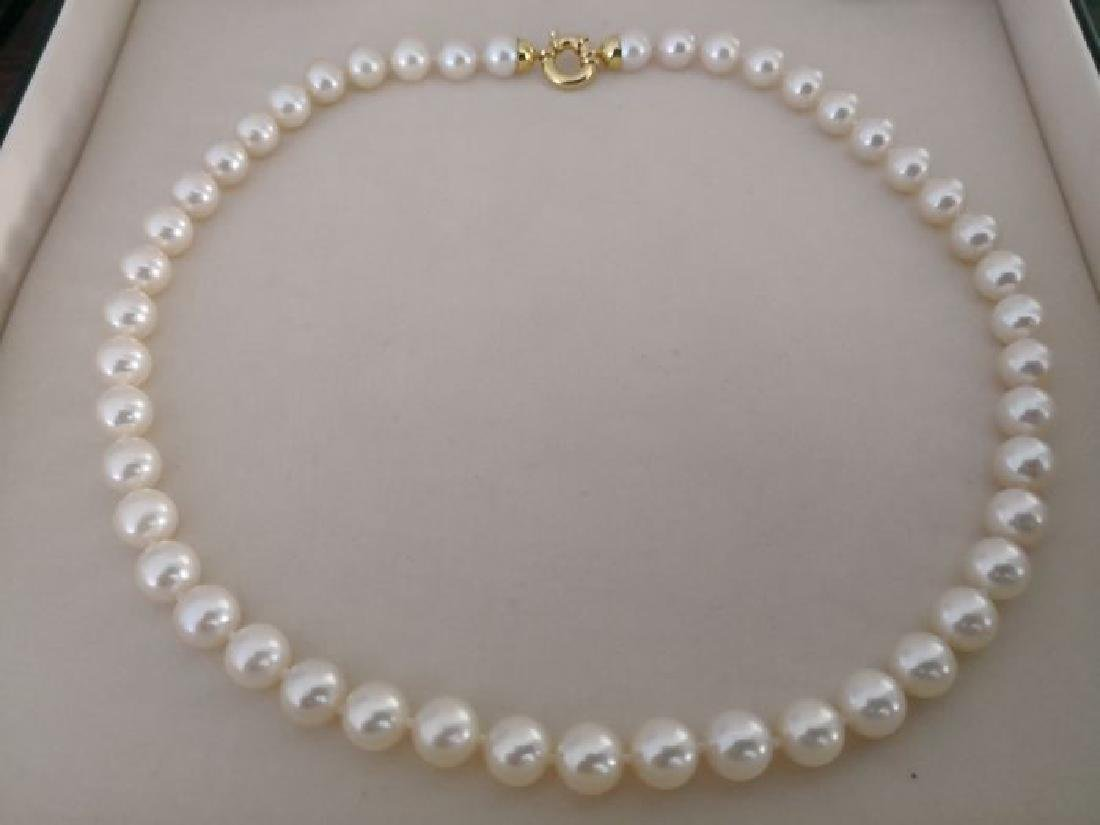 Akoya cultured pearls necklace size 7.5-8 mm round