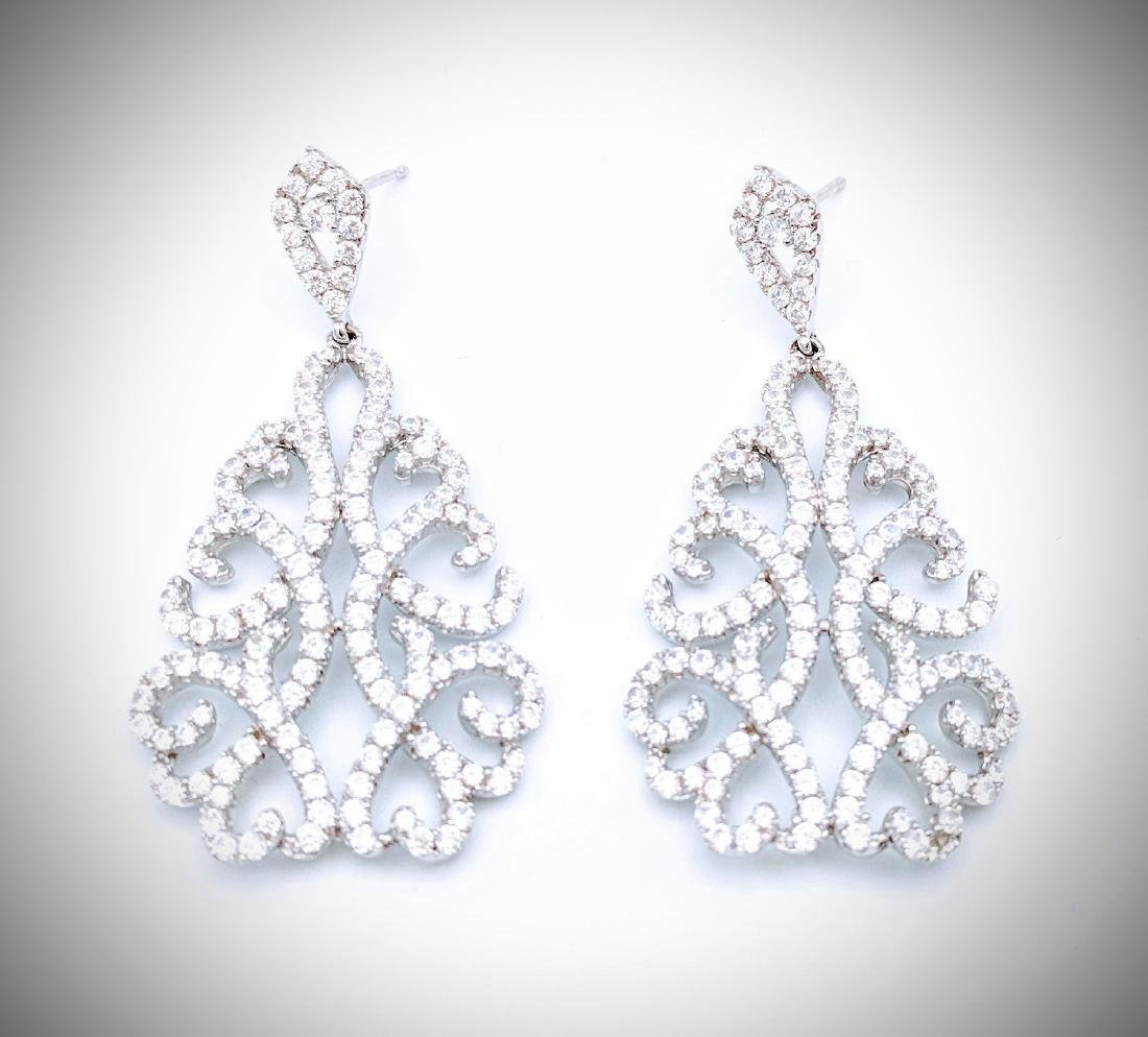Sterling Silver Cubic Zirconia Celebration Earrings