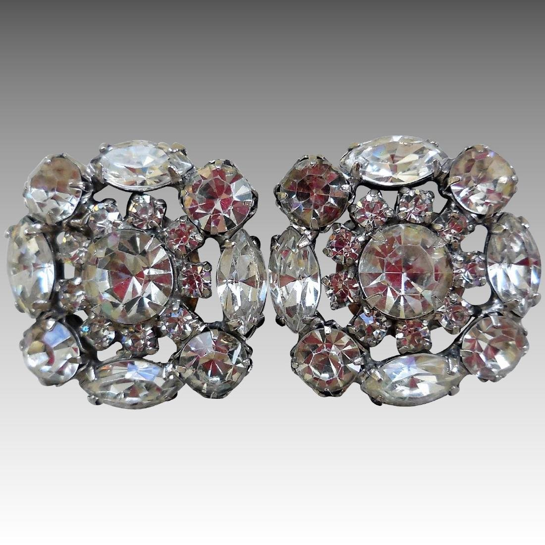 Mid-Century Rhinestone Earrings