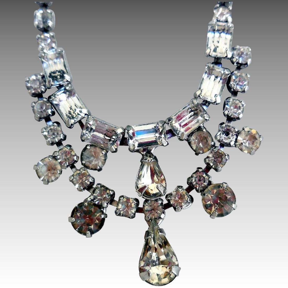 Mid-Century Rhinestone Necklace by Weiss