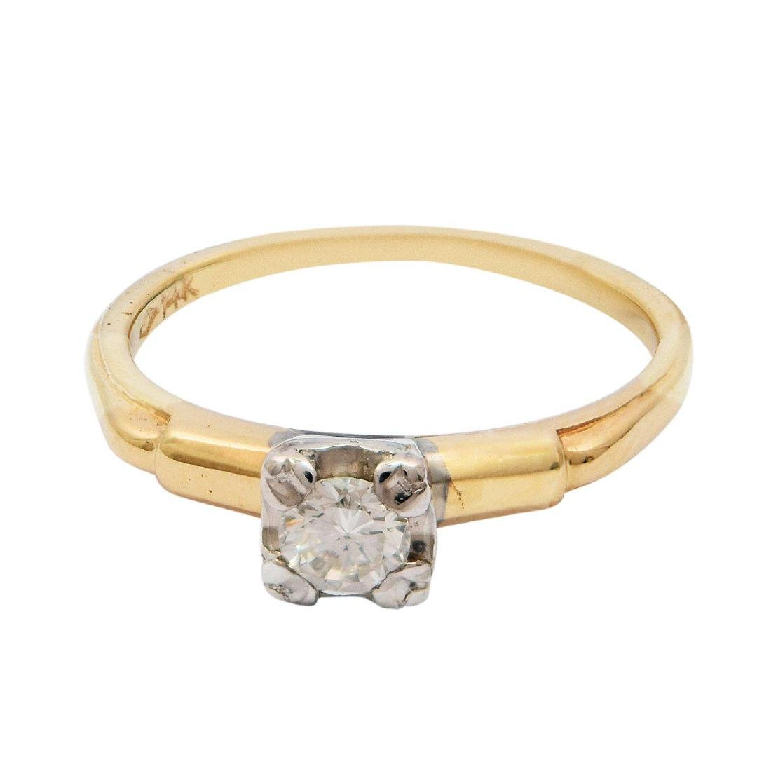 14K Gold 0.18ct VVS2 CLARITY Diamond Solitaire Ring