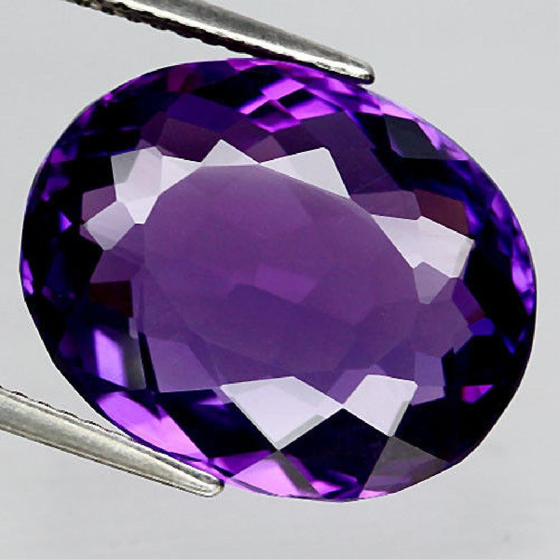 11.70 Ct Purple Change to Pink Amethyst Oval