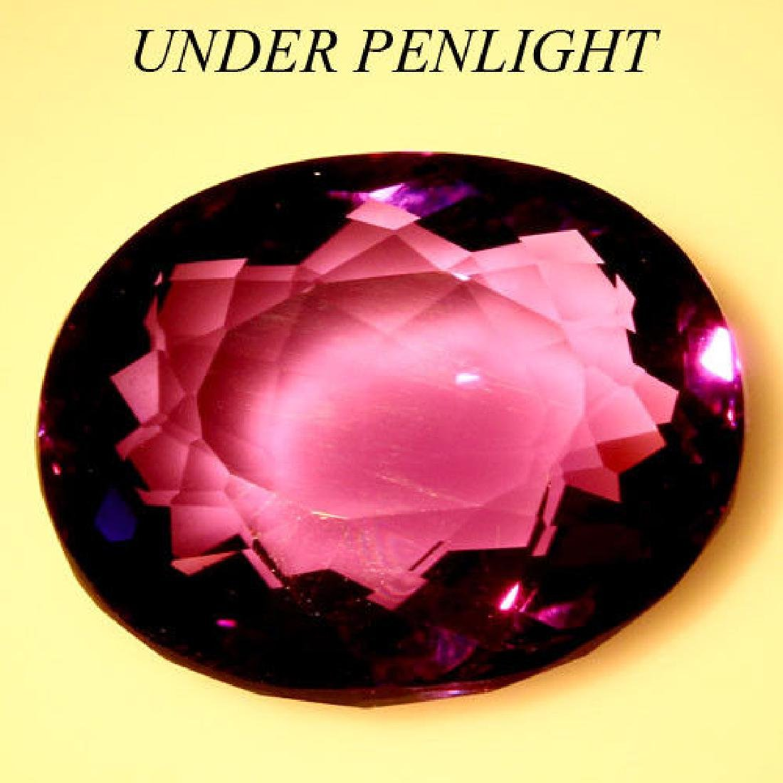 11.70 Ct Purple Change to Pink Amethyst Oval - 2