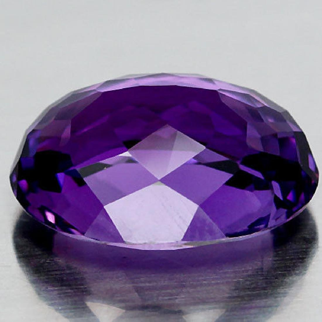 11.70 Ct Purple Change to Pink Amethyst Oval - 3