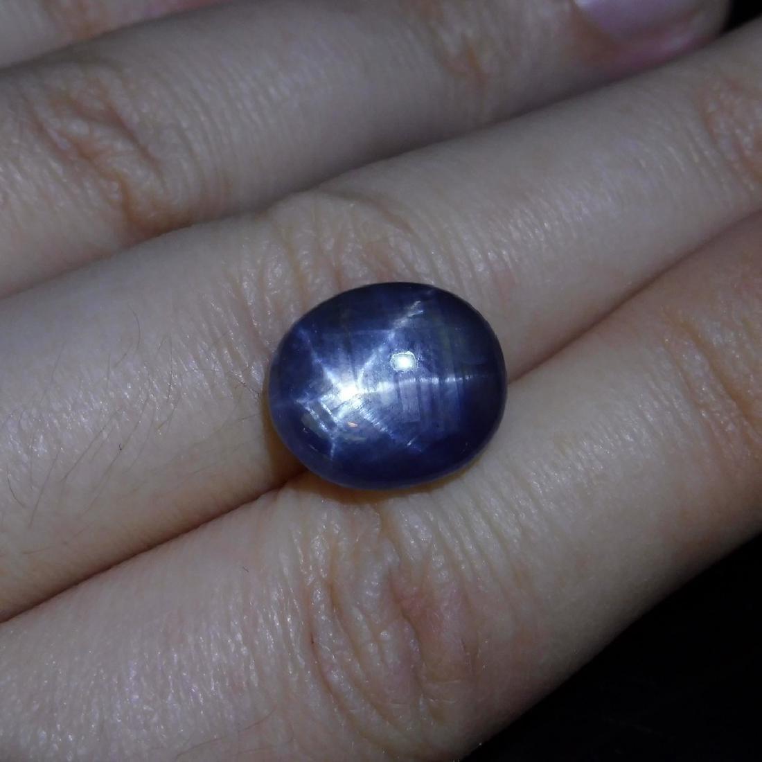 6.58 ct Oval Star Sapphire - 2