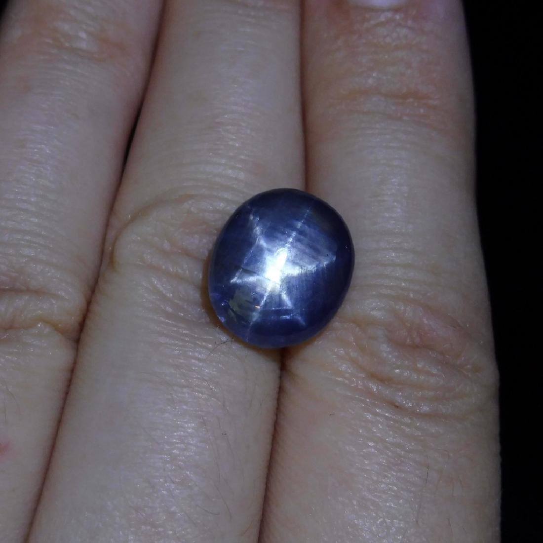 6.58 ct Oval Star Sapphire - 4