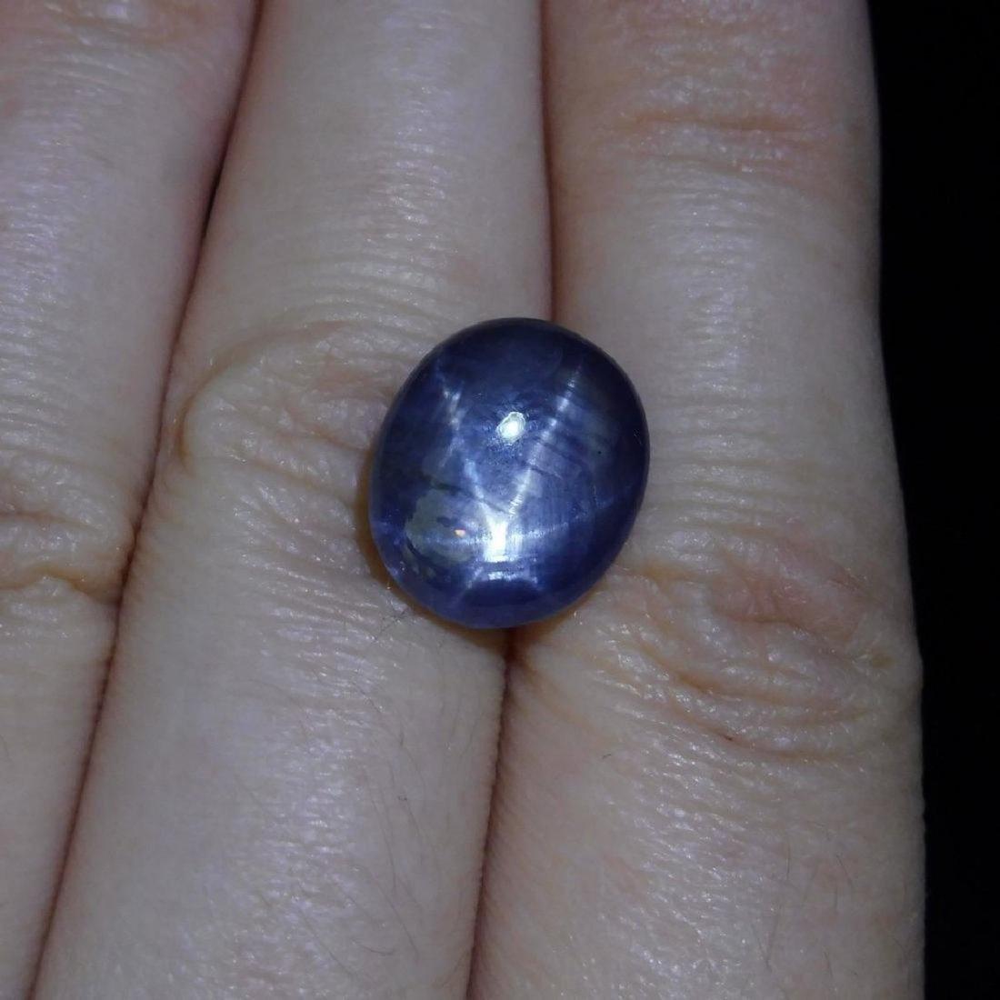 6.58 ct Oval Star Sapphire - 6