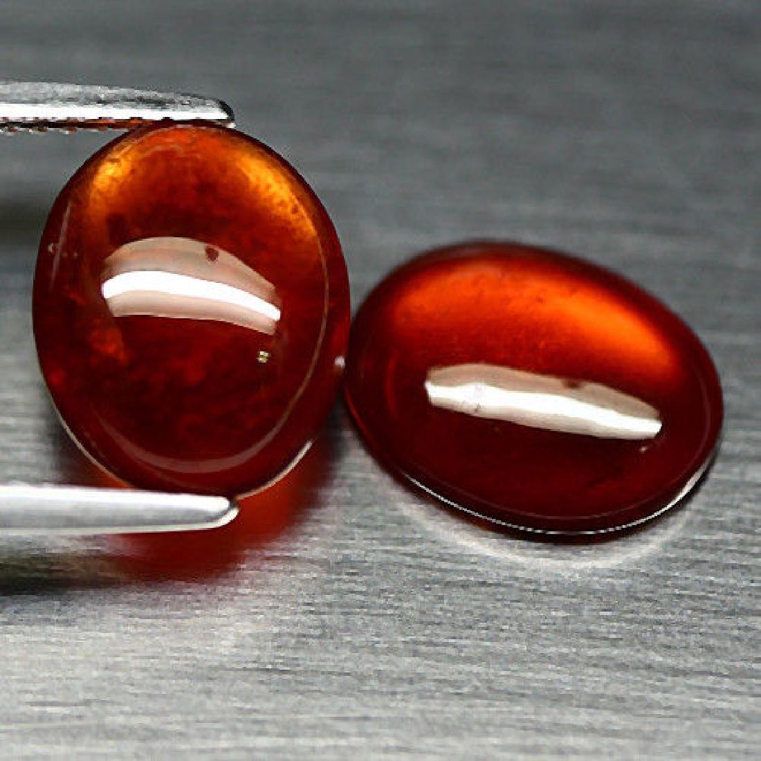 6.78 Ct Natural! Pair! Orange Hessonite Garnet Oval