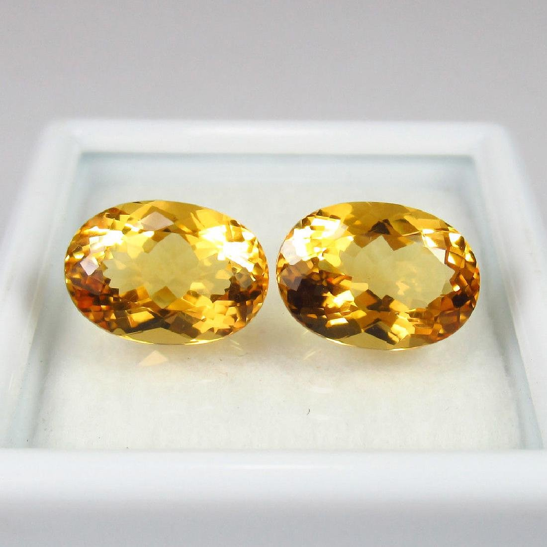 4.20 Ctw Natural Loose Matching Oval Citrine Pair