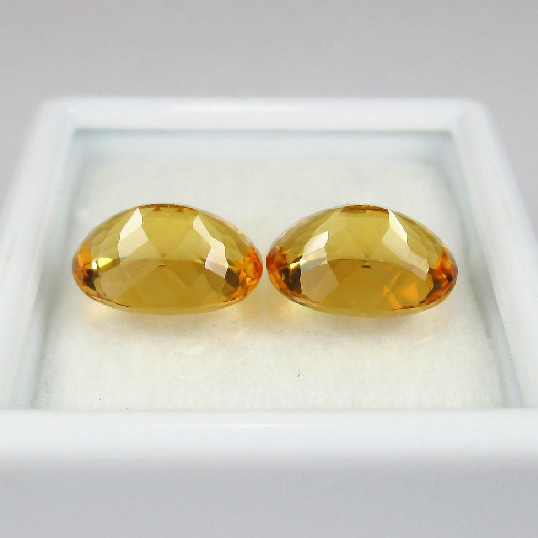 4.20 Ctw Natural Loose Matching Oval Citrine Pair - 2