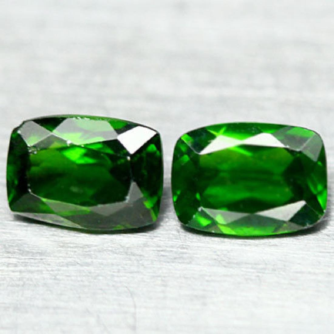 2.06 Ct Natural! Pair! Chrome Green Russia Diopside