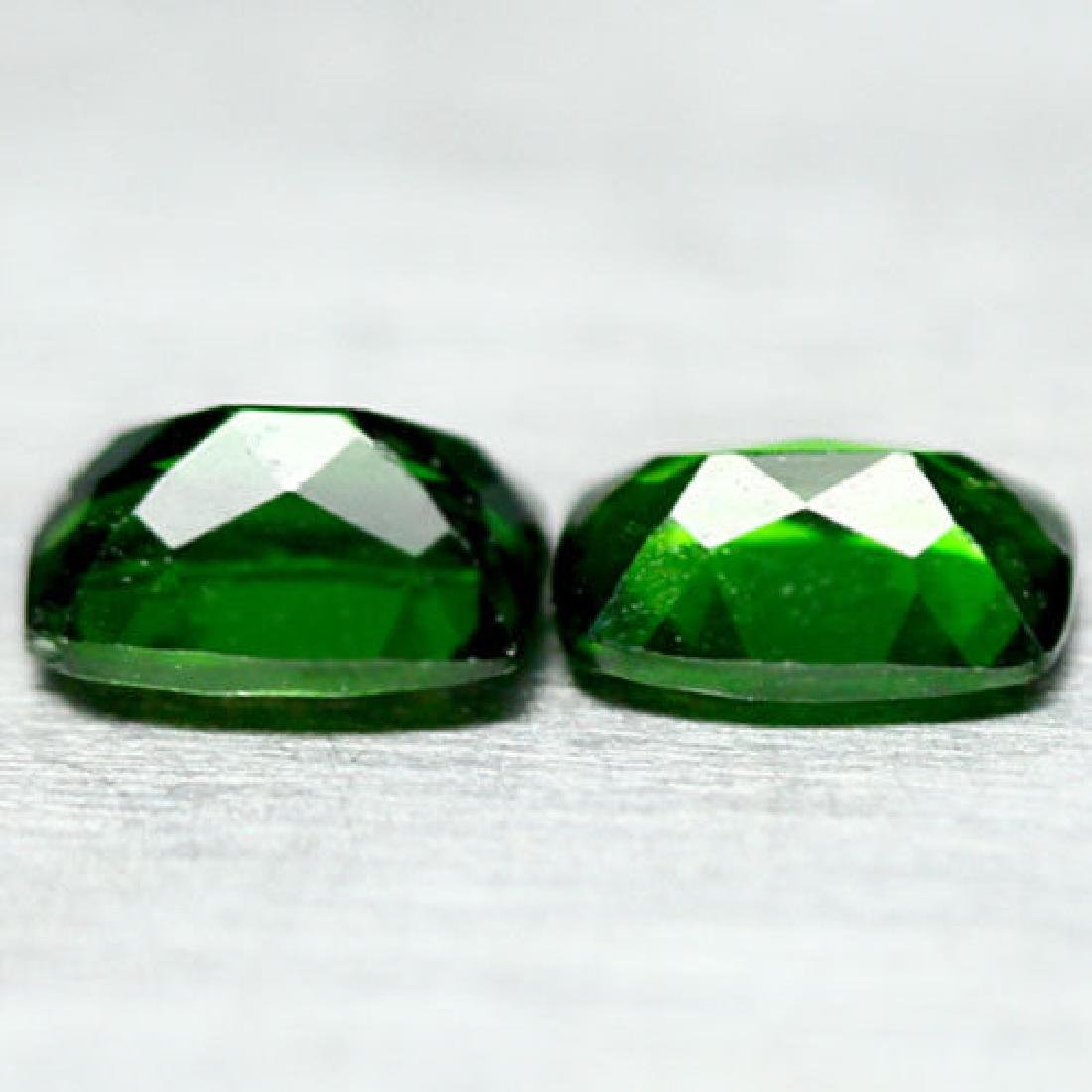 2.06 Ct Natural! Pair! Chrome Green Russia Diopside - 3