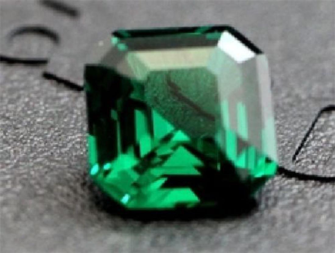 5.63ct Green Sapphire Diamond Cushion Cut Vvs