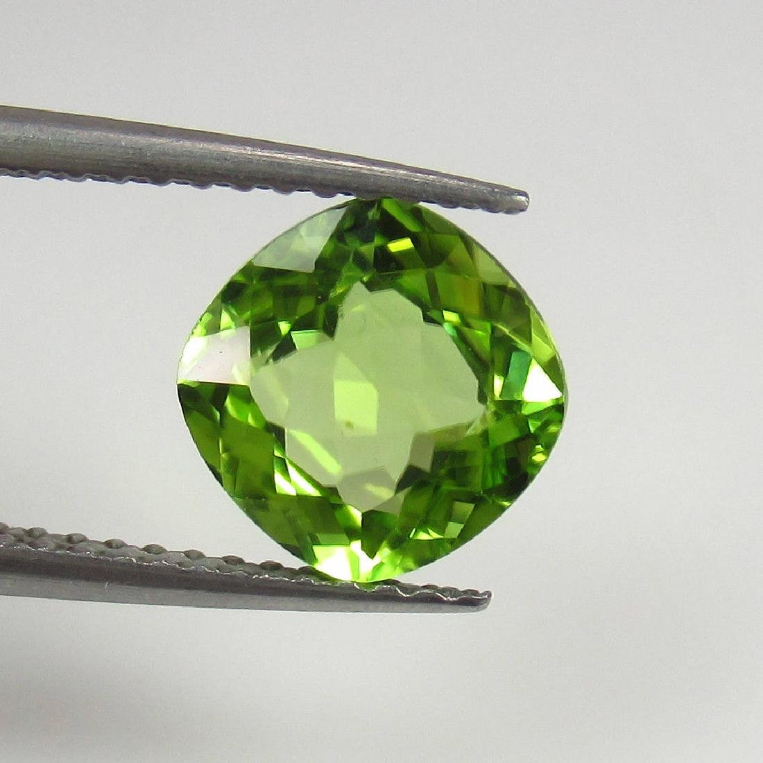 1.71 Ctw Natural Loose Cushion cut Top Luster Peridot