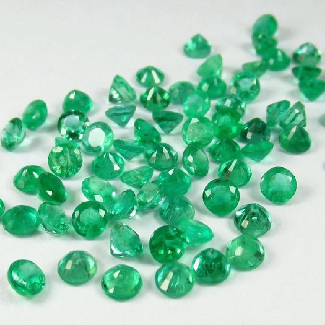 6.89 Ctw Natural  52 Calibrate Emerald 3.3 mm Round