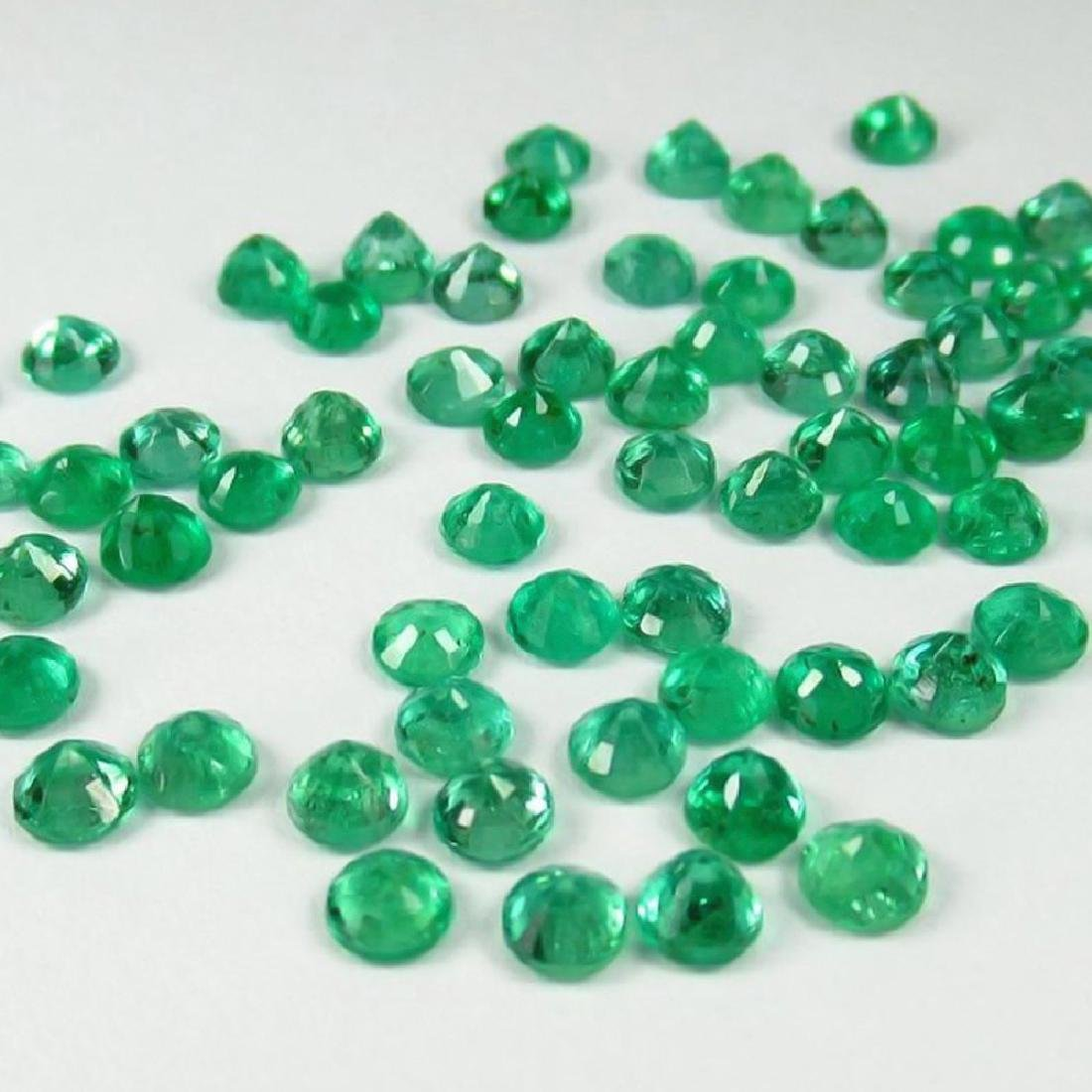 6.89 Ctw Natural  52 Calibrate Emerald 3.3 mm Round - 2