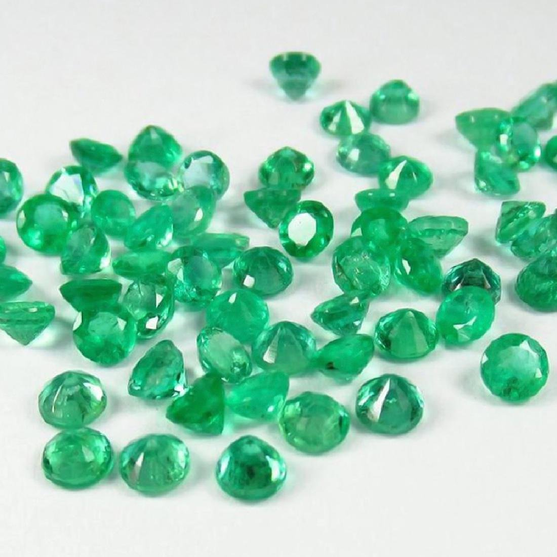 6.89 Ctw Natural  52 Calibrate Emerald 3.3 mm Round - 4