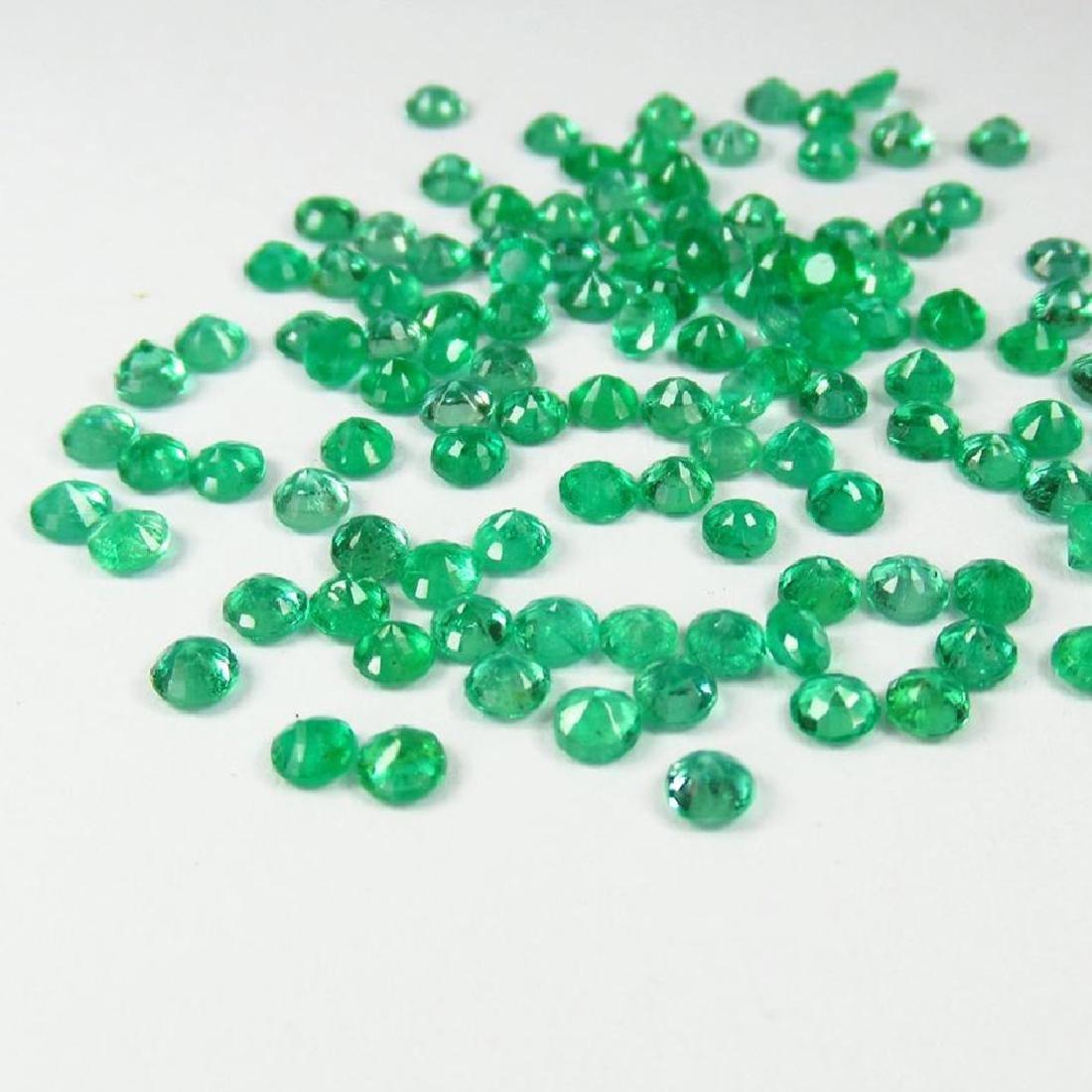 9.67 Ctw Natural 110 Calibrate Emerald 3.0 mm Round