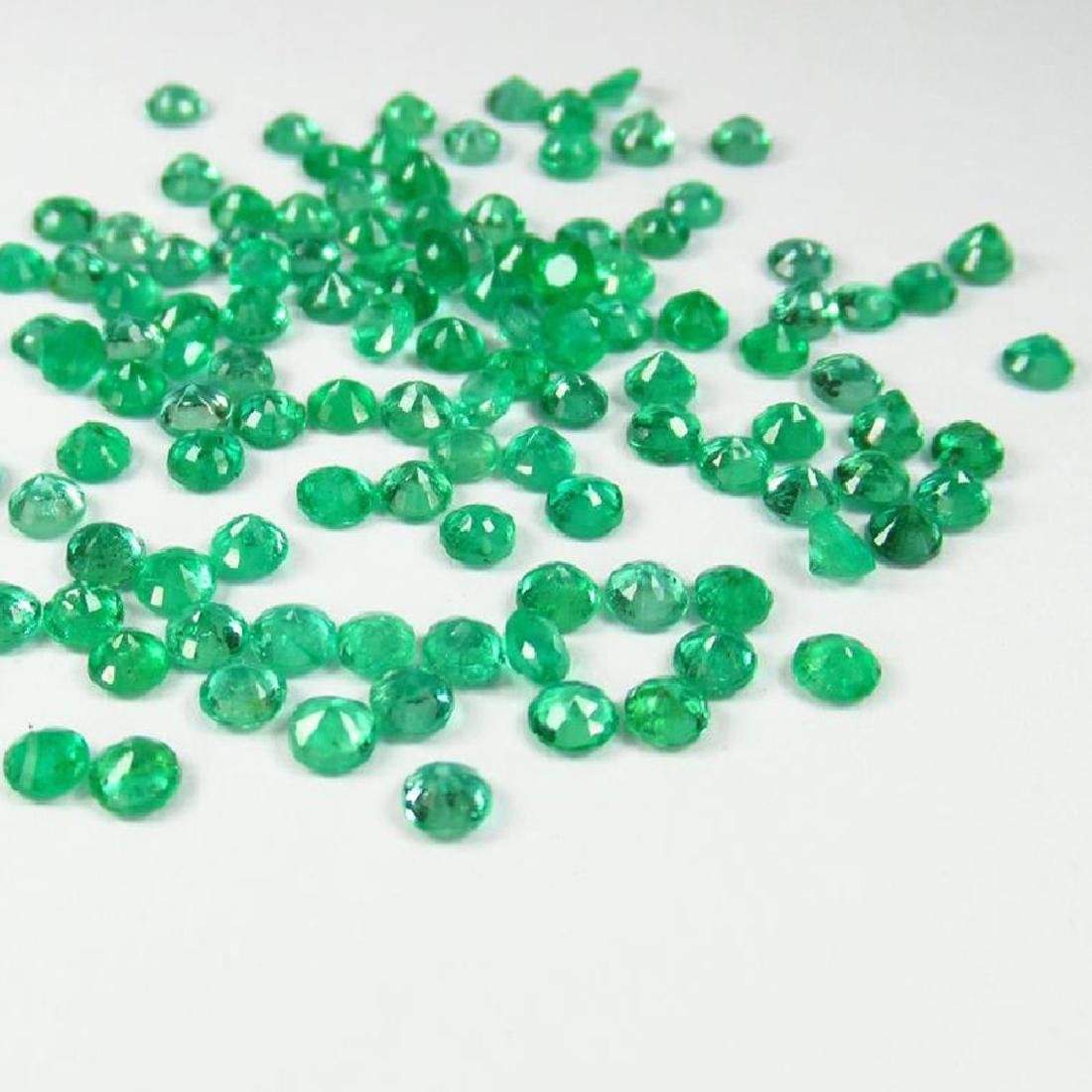 9.67 Ctw Natural 110 Calibrate Emerald 3.0 mm Round - 2