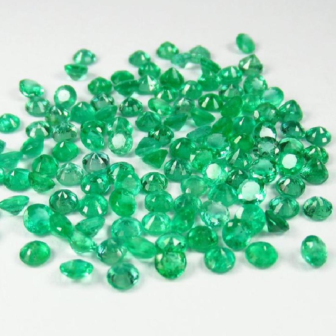 9.67 Ctw Natural 110 Calibrate Emerald 3.0 mm Round - 3