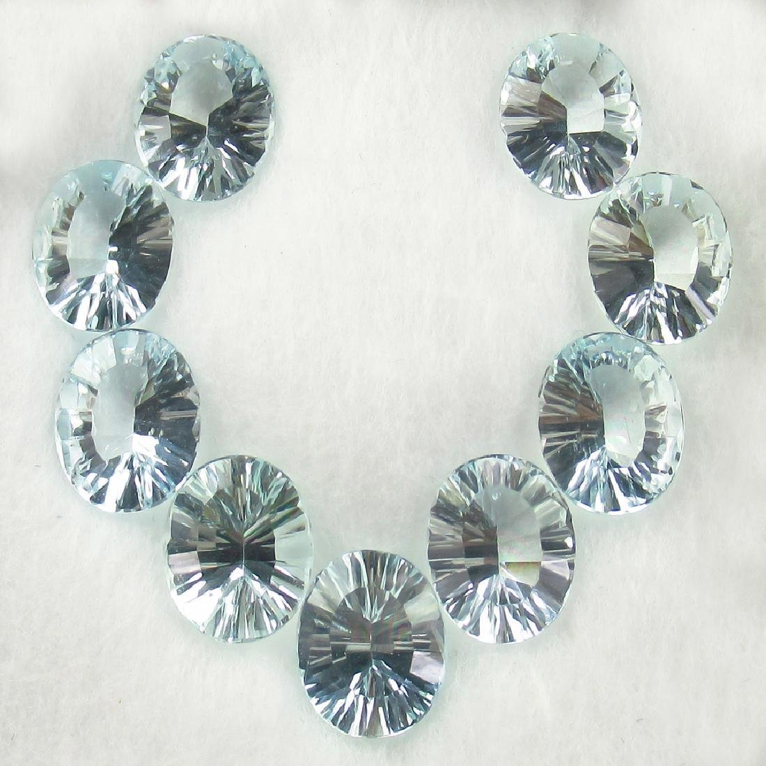 18.02 Ctw Natural 9 Loose Matching Oval Concave Cut