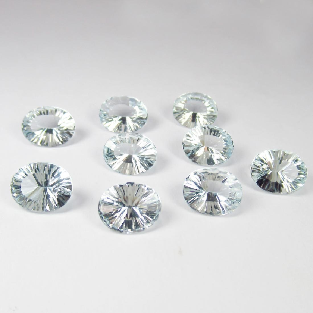 18.02 Ctw Natural 9 Loose Matching Oval Concave Cut - 2