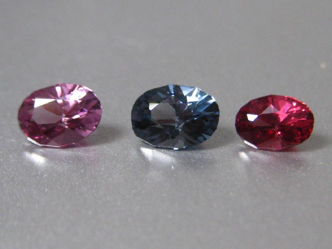 Lot Natural Spinel 3pc.