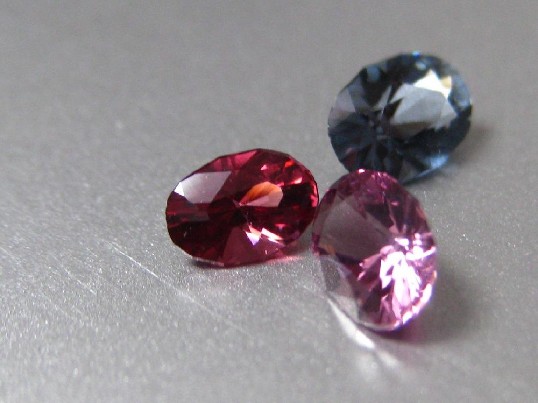 Lot Natural Spinel 3pc. - 3