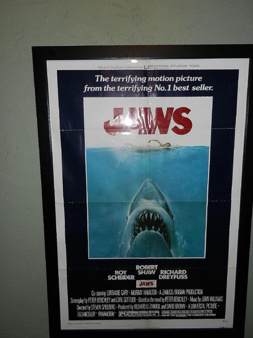 Jaws Movie Poster 1975 - 2